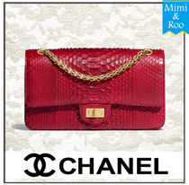 CHANEL Party Style Python Handbags