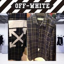 Off-White Button-down Tartan Long Sleeves Cotton Oversized Shirts