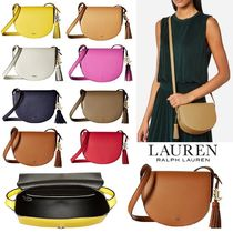 Ralph Lauren Tassel Plain Leather Shoulder Bags