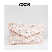 ASOS Chain Party Style With Jewels Clutches