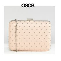 ASOS Dots Studded Chain Party Style Clutches