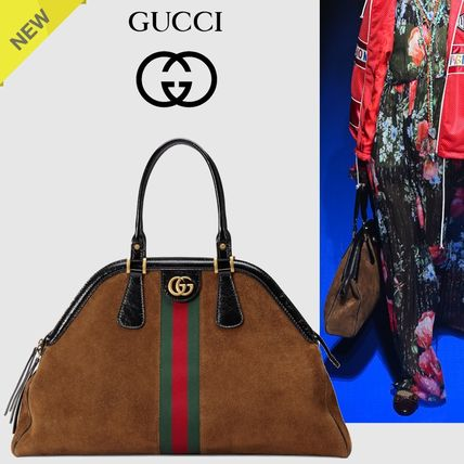 01ca46c6d99f GUCCI 2018 SS Suede 2WAY Plain Handbags (515937 0KCDT 2863) by ...