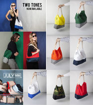 JULY NINE Casual Style Nylon 2WAY Totes