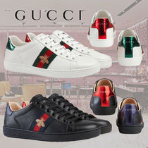 GUCCI Plain Toe Rubber Sole Casual Style Other Animal Patterns