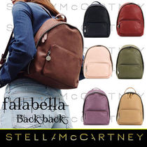 Stella McCartney FALABELLA Casual Style Faux Fur Chain Plain Backpacks