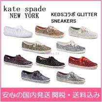 kate spade new york Round Toe Rubber Sole Lace-up Casual Style Low-Top Sneakers