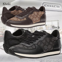 Coach Monogram Casual Style Low-Top Sneakers