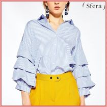 Sfera Stripes Casual Style Puff Sleeves Shirts & Blouses