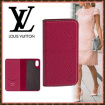 Louis Vuitton EPI Blended Fabrics Plain Leather Smart Phone Cases