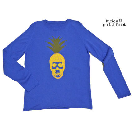 Crew Neck Skull Cashmere Long Sleeves Knits & Sweaters