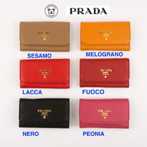 PRADA Leather Keychains & Bag Charms
