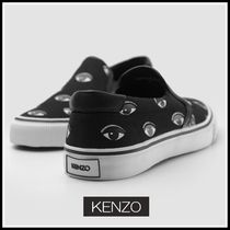 KENZO Plain Toe Unisex Street Style Deck Shoes Loafers & Slip-ons