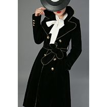 Bi-color Long Party Style Trench Coats