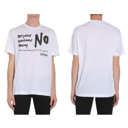 VERSACE More T-Shirts Street Style Cotton Short Sleeves T-Shirts