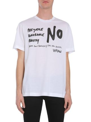 VERSACE More T-Shirts Street Style Cotton Short Sleeves T-Shirts 2