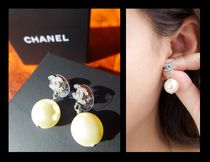 CHANEL ICON Costume Jewelry Casual Style Earrings & Piercings