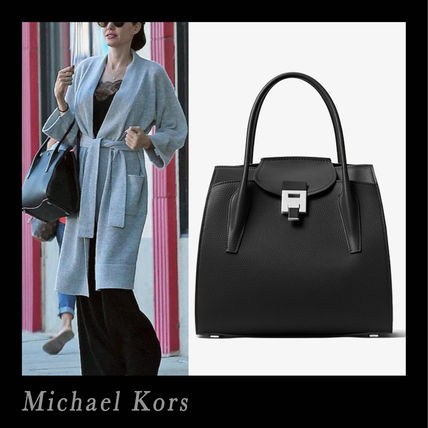 Michael Kors Handbags 2way Plain Leather Office Style