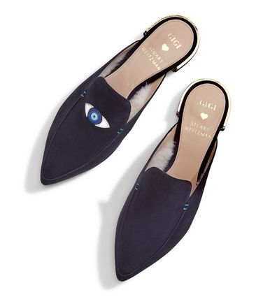 Casual Style Suede Blended Fabrics Flats
