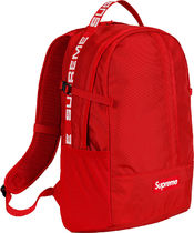 Supreme Unisex Street Style Plain Backpacks