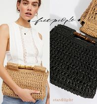 Free People Casual Style 2WAY Plain Straw Bags
