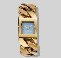 MARC JACOBS Square Quartz Watches Stainless Analog Watches
