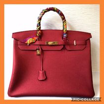 HERMES Birkin A4 Plain Leather Bags
