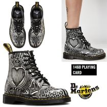 Dr Martens Heart Round Toe Rubber Sole Lace-up Casual Style Unisex