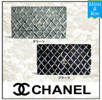 CHANEL Other Check Patterns Casual Style Lambskin Shoulder Bags