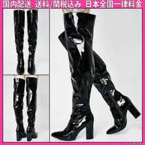 DOLLS KILL Casual Style Plain Block Heels Over-the-Knee Boots