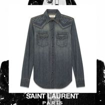 Saint Laurent Casual Style Street Style Long Sleeves Cotton Medium