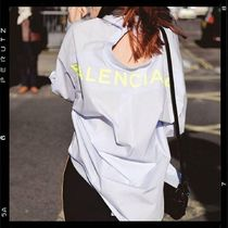 BALENCIAGA Monogram Casual Style Long Sleeves Cotton Long