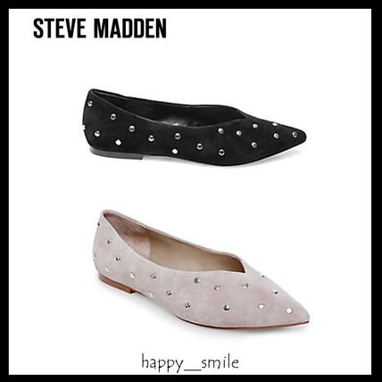 Suede Studded Pumps & Mules