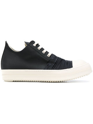 Unisex Blended Fabrics Street Style Plain Leather Sneakers