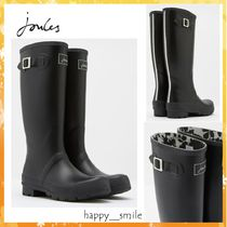 Joules Clothing Plain Toe Rubber Sole Casual Style Rain Boots Boots