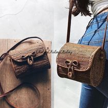 SURRENDER THE LABEL Casual Style Plain Straw Bags