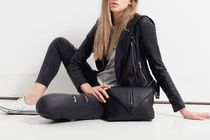 STATUS ANXIETY Casual Style Plain Leather Crossbody Shoulder Bags