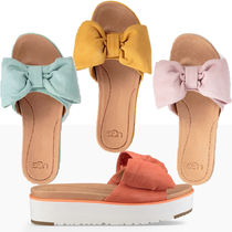 UGG Australia Casual Style Suede Plain Footbed Sandals Flat Sandals