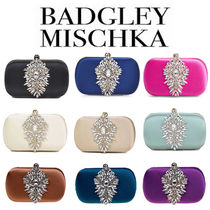 Badgley Mischka 2WAY Chain Party Style With Jewels Clutches