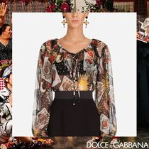 Dolce & Gabbana Casual Style Silk Long Sleeves Medium Shirts & Blouses