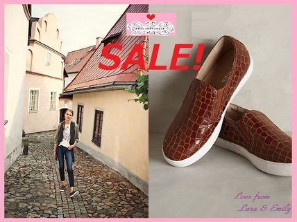 16a81f09e1 ... Anthropologie Slip-On Round Toe Rubber Sole Leather Elegant Style  Slip-On Shoes ...