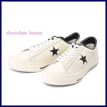 98a103a46b4 CONVERSE ONE STAR Star Unisex Plain Leather Sneakers
