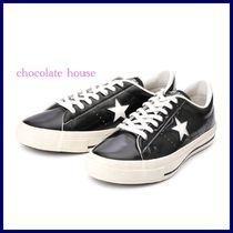 CONVERSE ONE STAR Star Unisex Plain Leather Sneakers