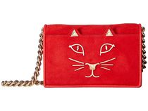 Charlotte Olympia Suede Chain Plain Other Animal Patterns Elegant Style
