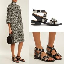 TOGA Open Toe Casual Style Plain Leather Sandals Sandals