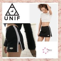 UNIF Clothing Short Casual Style Street Style Plain Skirts