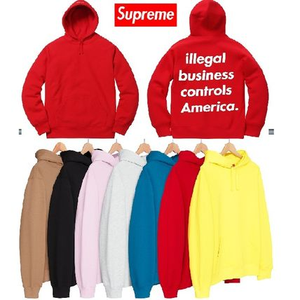 Supreme Unisex Sweat Street Style Long Sleeves Hoodies