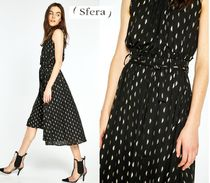 Sfera A-line Sleeveless Medium Party Style High-Neck Dresses