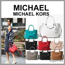 Michael Kors Casual Style 2WAY Plain Leather Handbags