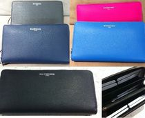 BALENCIAGA Plain Leather Long Wallets