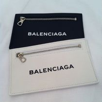BALENCIAGA Plain Leather Coin Cases